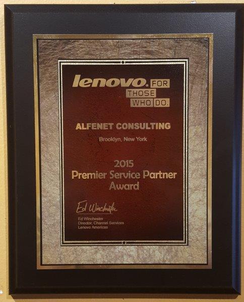 Best Lenovo Service Provider Award