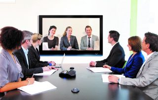Modern Video Conference Equipment